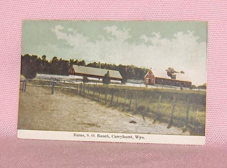 Vintage Postcard Barns S.O. Ranch Careyhurst Wyoming United  States
