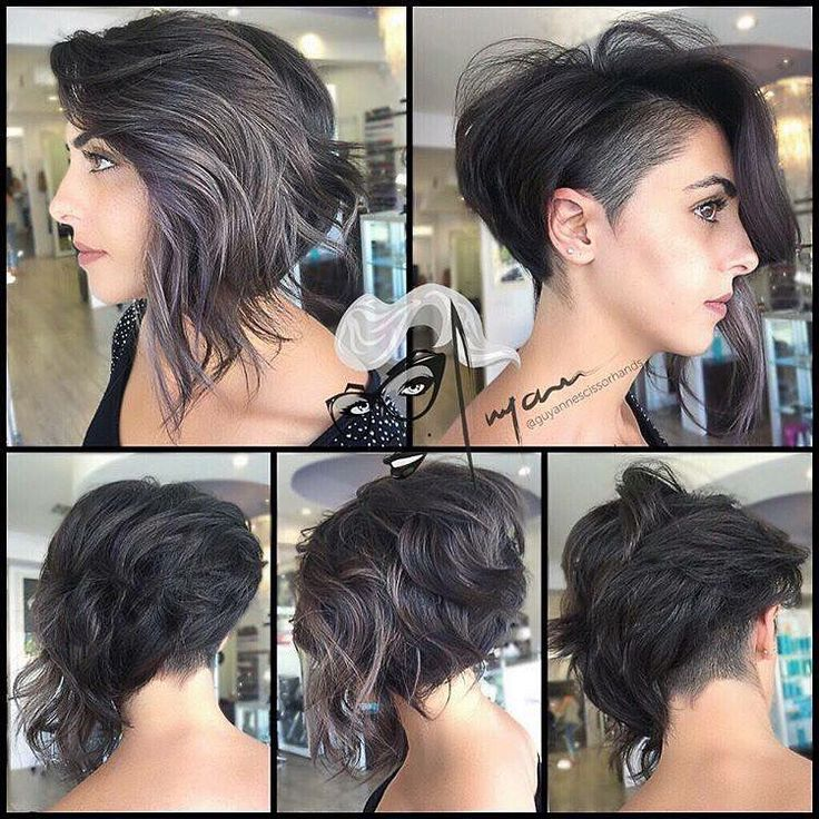 Obsessed with the grown out pixie with undercut look.