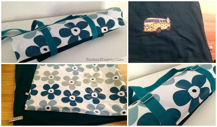 Picknickdecke aus Canvas und Wachstuch mit Applikation