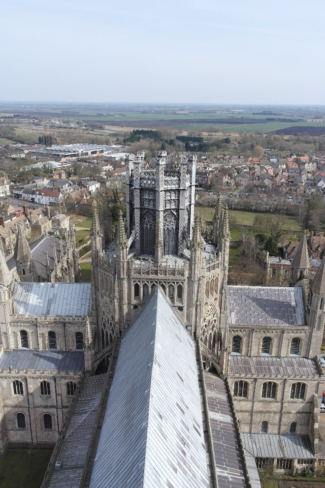 Ely Cathedral, UK...quite the overview...the other picture posted is from the gardens... very imposing cathedral for sure....