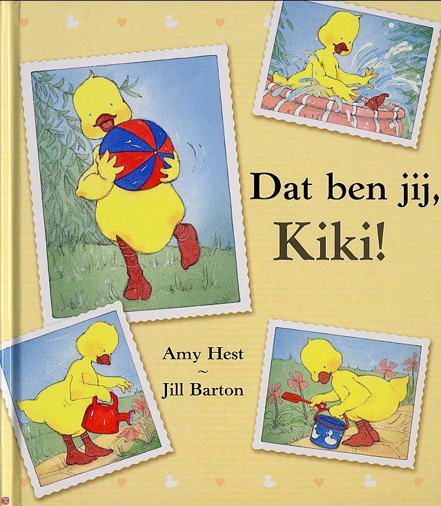 Dat ben jij, Kiki! / Amy Hest en Jill Barton Het eendje Kiki is erg verkouden. Opa komt op bezoek om Kiki op te vrolijken. Samen bekijken ze foto's van Kiki. Wie is dat kleine eendje dat steeds op de foto's staat? http://www.bibliotheekbreda.nl/iguana/uploads/specials/nvd2006/kiki.html