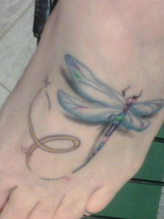 371 best images about tattoos on pinterest mouse tattoos for Gold ribbon tattoos