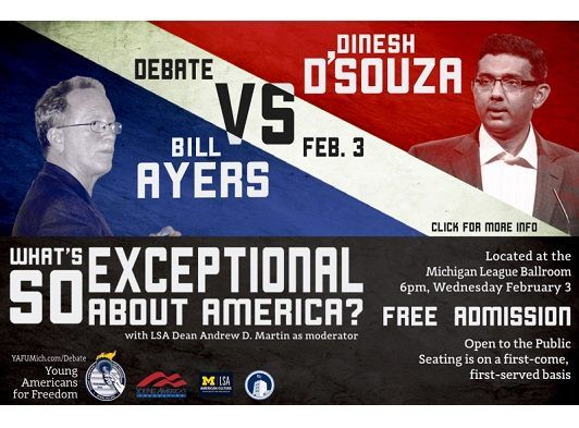 Watch: Dinesh D'Souza, Bill Ayers Debate Live at the University of Michigan