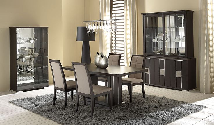 Wonderfully Planned Modern Dining Room Decors : Impressive Modern Beige Four Person Concept Dining Room with Beige Seat Pad and Grey Synthetic also Small Dining Table