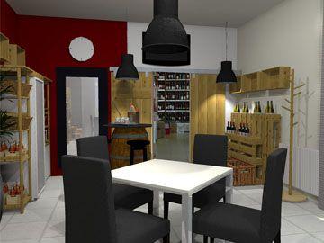 A new interier for Wine&Deli shop. Design by Monika Jakubcova www.arcline.sk #interior, #interiordesign, #homedesign