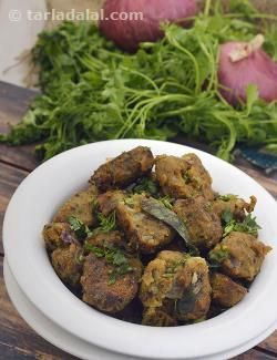While muthias can be prepared in varied methods ranging from baking and deep-frying to steaming, you will find that cooking them in a kadhai is not only convenient but also gives them a richer flavour and wonderful texture. Here we show you how to make amazing Bajra Onion Muthias using a non-stick kadhai. It is important that you do not stir the muthias too often when they cook. Even though it might seem as if they are sticky or disintegrating when they cook, do not worry. Just continu...