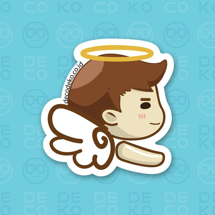 Sticker Angel Boy