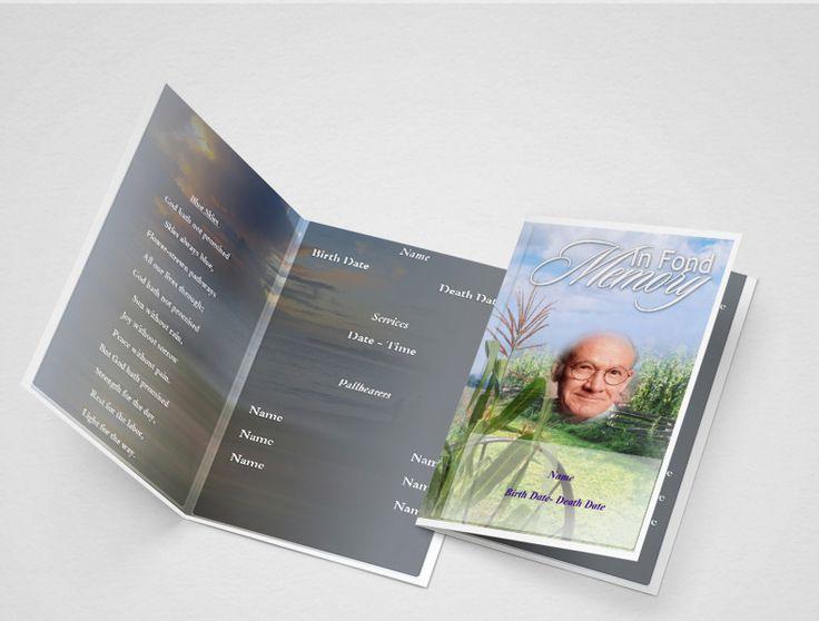 Pinterestu0027teki 25u0027den fazla en iyi Funeral program template free - free funeral programs downloads