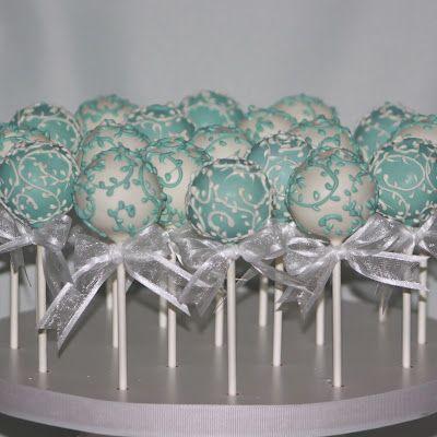 Tiffany Blue Theme Cake Pops