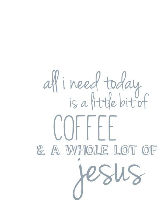 If only I liked coffee.. But I do love Jesus.  NEW! Printed & Shipped Coffee and Jesus Vintage-Inspired Print on Etsy, $19.99