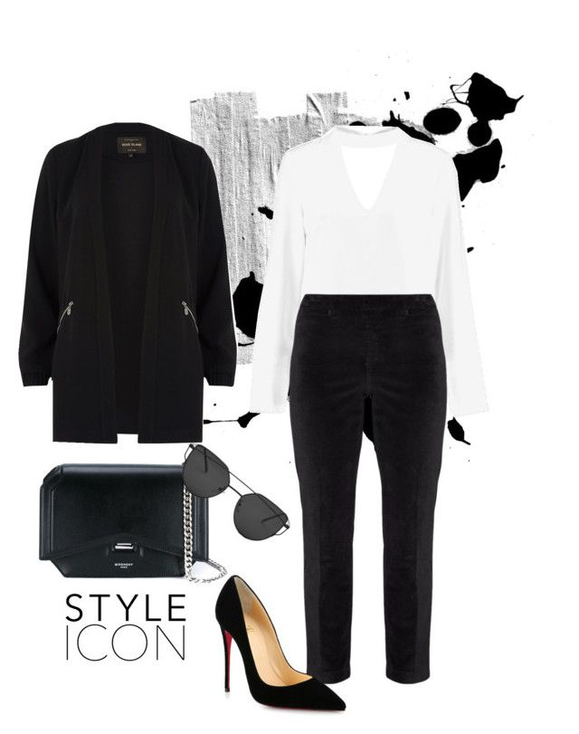 """""""Untitled #13"""" by maria-raniela on Polyvore featuring River Island, Boohoo, NYDJ, Givenchy and Christian Louboutin"""