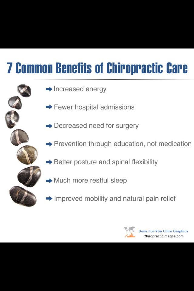 Try chiropractic for your family! See the many health benefits that result from regular chiropractic care. It's about prevention and finding the cause, instead of masking your symptoms.