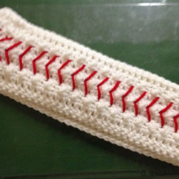 Free Crochet Pattern For Softball Headband : Crochet Baseball Headband by LilacLobster on Etsy, USD12.00 ...