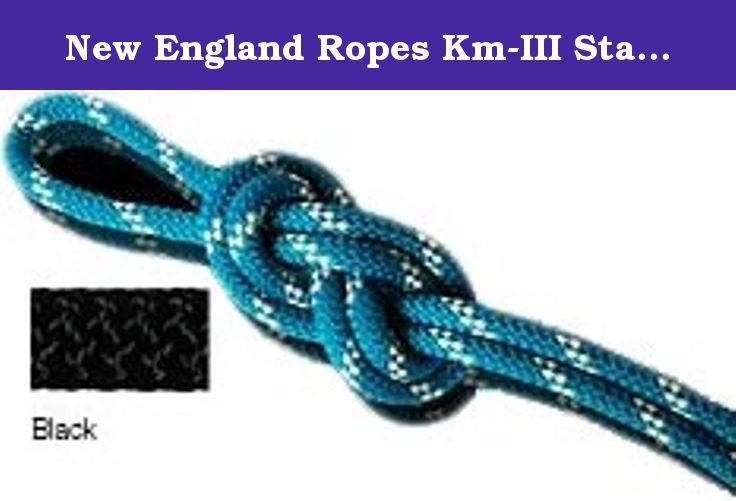 New England Ropes Km-III Static Rope, Black, 1/2x600ft. New England Ropes Km-III Static Rope, Black, 1/2x600ft 100417.