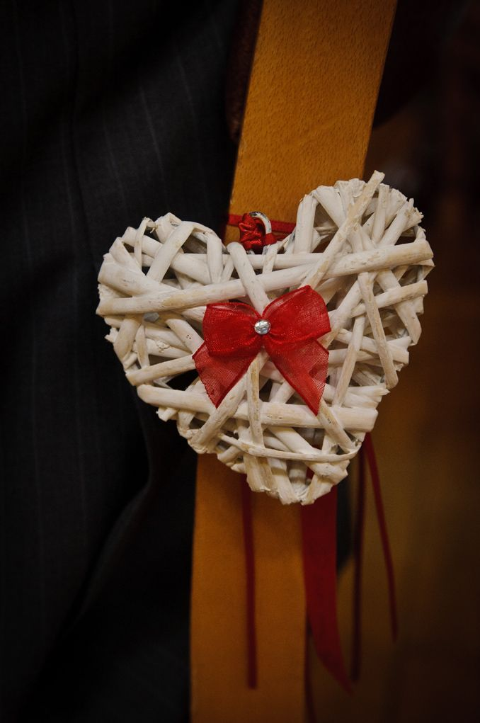 8 best pew images on pinterest wedding church wedding decor and white wicker hearts customized with the colour theme ribbons junglespirit Choice Image