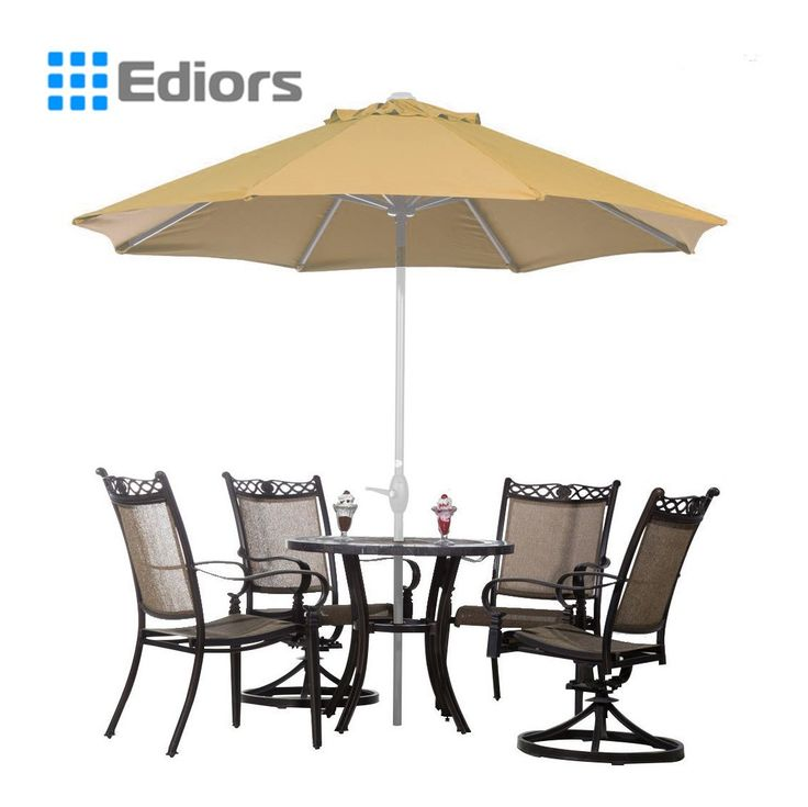 Attractive Ediors® Deluxe Ivory 9 Ft Cantilever Hanging Patio Umbrella Freestanding  Outdoor Parasol Adjustable Market Umbrella White Pole 250g/sqm Polyester  Beige ...