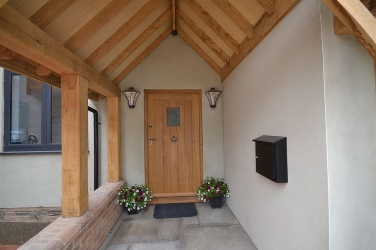 Beautiful, handmade oak front door - the perfect mix of both homely and sturdy.