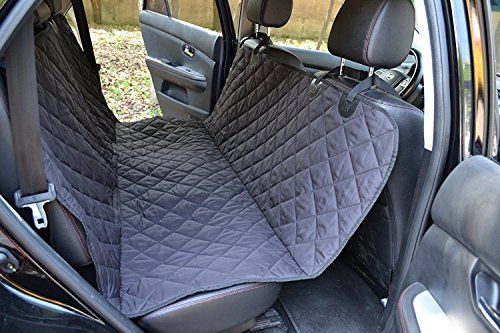 "Pet Car Seat Covers Back Seat Lumsing Dog Seat Cover for Cars Trucks SUVs Jeeps-Black Waterproof & Non-Slip 57""L x 54""W"