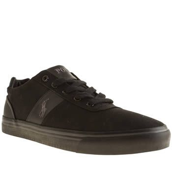 Polo Ralph Lauren Black Hanford Mens Shoes Premium brand Polo Ralph Lauren presents the Hanford, a sleek black canvas plimsoll for the more dapper amongst you gents. Featuring subtly embroidered Pony branding on the midsection, a thick rubber  http://www.MightGet.com/january-2017-13/polo-ralph-lauren-black-hanford-mens-shoes.asp