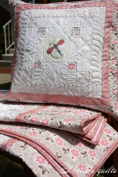 Marie's quilts: Quilting.  One beautiful quilt after another.