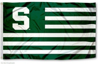 Michigan State Spartans Striped Flag
