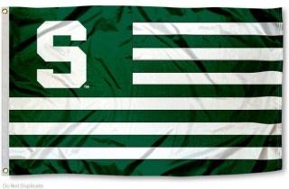 Michigan State Spartans Striped Flag