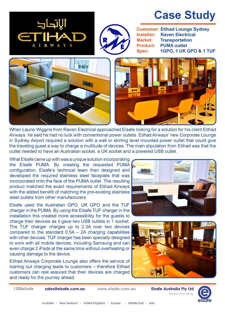 Etihad Airways renovation of their Corporate Lounge at Sydney Airport. Using Elsafe's PUMA. http://elsafe.com.au/case-study-etihad-airways.html