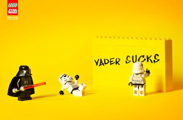 coolDarth Vader, Lego Stars Wars, Ads Campaigns, Street Art, Star Wars, Vader Suck, Dark Side, Prints Ads, Starwars