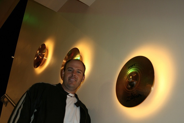 Cymbal Lights - I saw something like this at the Hard Rock Hotel and LOVED IT!  Would like to do this is drum room.