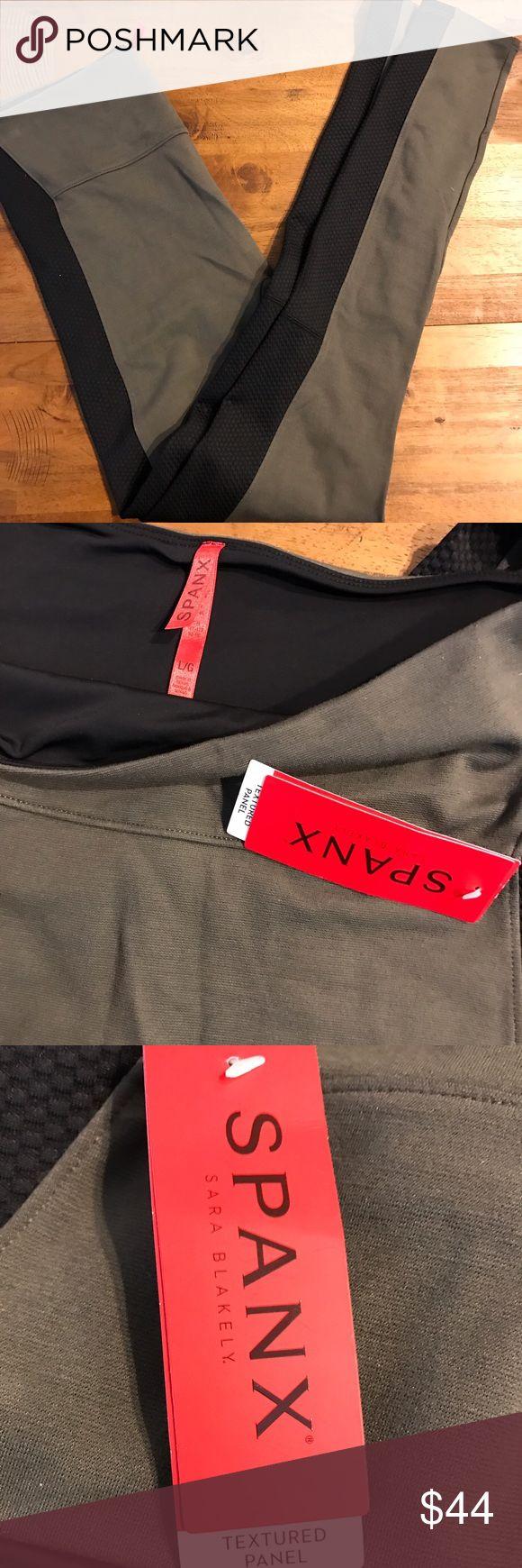 Textured Paneled Spanx Olive and black textured paneled spanx SPANX Pants Leggings