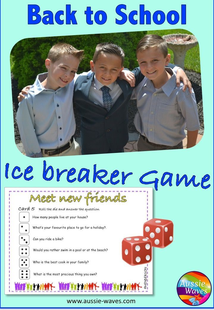 A FUN activity for the beginning of the year. This game is a great  idea for students to get to know each other and settle into a new class.