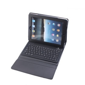 Protective PU Leather Case with Built-in Bluetooth Wireless Keyboard for iPad 2 and The New iPad. www.Tech-Gadgets.com
