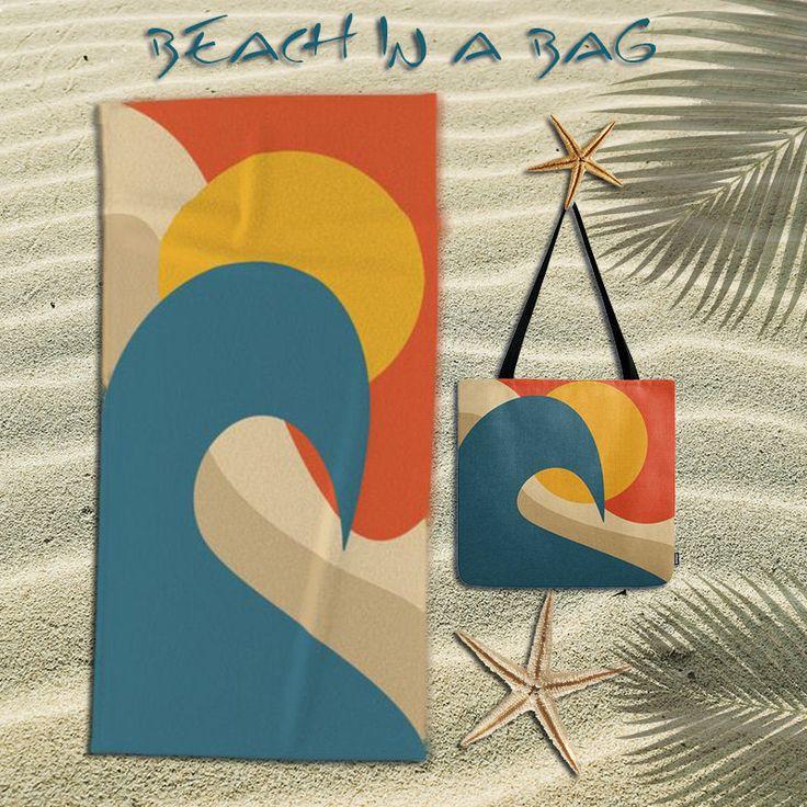 Beach towel,oversized beach towel,whales,ocean,sun,wave,tote bag,bundle,beach bag,beach tote bag,animal,abstract tote bag,beach accessories by OkopipiDesign on Etsy