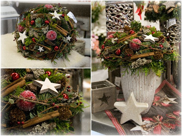Vánoční kytice do červena #christmas #flower #red #decoration #arrangement