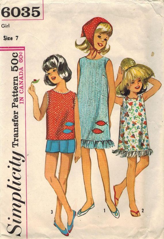 1960s Simplicity 6035 Vintage Sewing Pattern by midvalecottage
