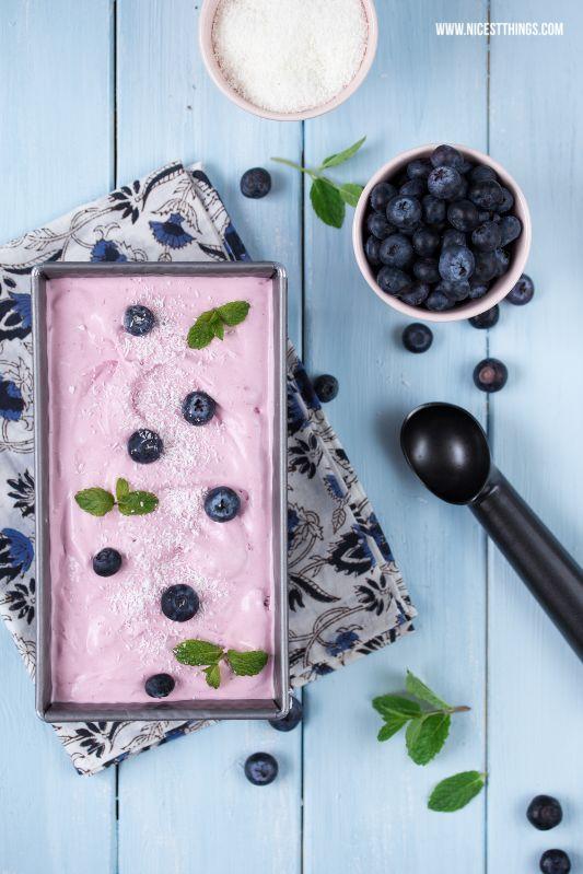 Blaubeer-Kokos-Eis ohne Eismaschine / blueberry coconut icecream