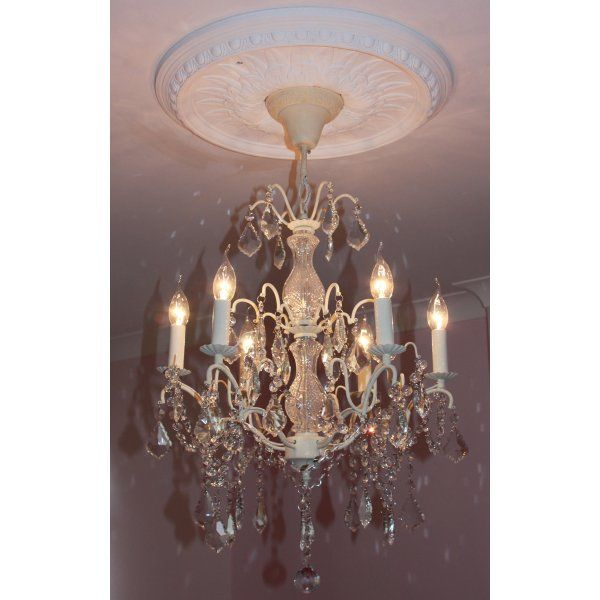 34 best french style white bedroom furniture french mirrors buy 6 light glass chandelier 6 arm chandelier cream finish swanky interiors aloadofball Gallery