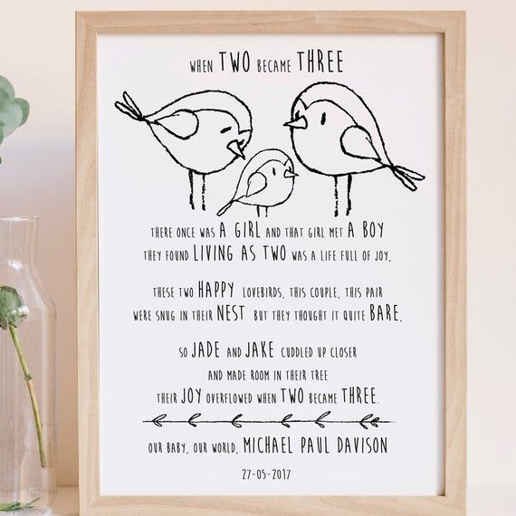 MOTHERS DAY EXPECTANT MUM DAD NAN  TO BE BABY PREGNANCY SCAN PRINT BABY SHOWER