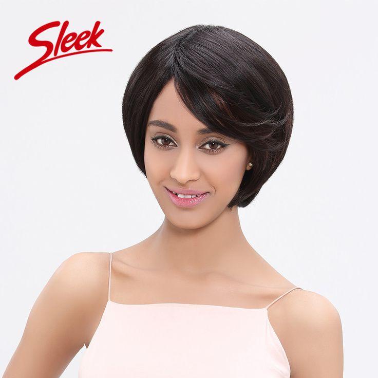 Sleek Human Hair Bob Wigs Brazilian Virgin Hair 10 Inch Frosted Color 1B/30# 100 Human Hair Wigs for African Americans