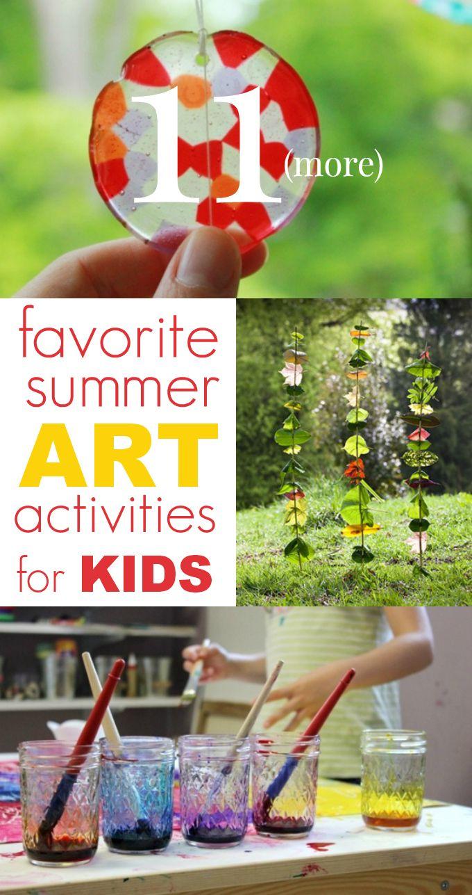 11 More Favorite Summer Art Activities for Kids!