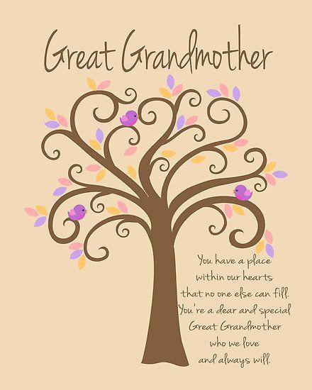 Great-Grandmother Sayings | Doherty-Design › Portfolio › Great Grandmother/Grandchildren Tree ...