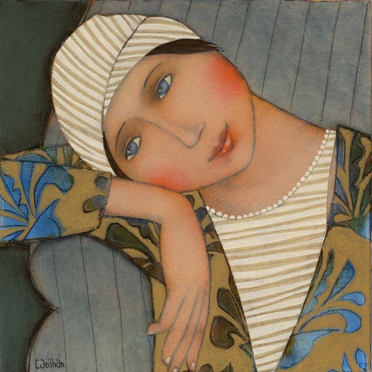 """Jeanne"" - 30x30 Cecile Veilhan (Nantes, 1965)"