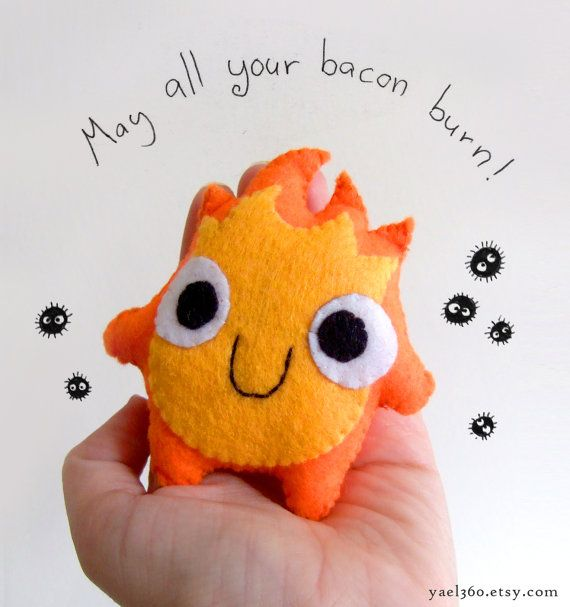 very cute calcifer howl's moving castle fire plush by yael360 - Etsy