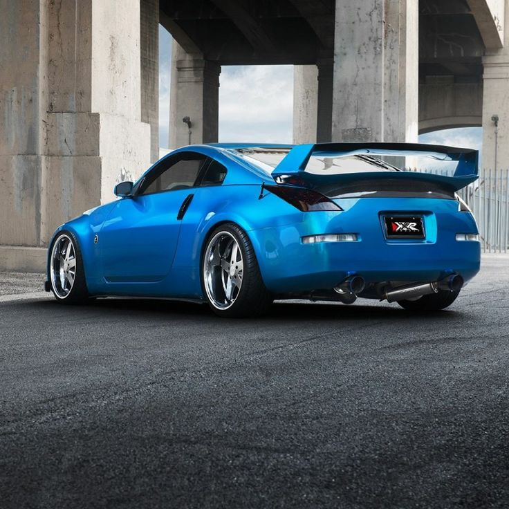 Our Sponsored #Nissan #350Z with our E-Line Rotors and Pads featured in the #XXRWheels Catalog