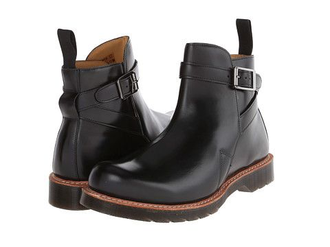 Dr. Martens Kenton Dealer Boot Black Polished Smooth - Zappos.com Free Shipping BOTH Ways