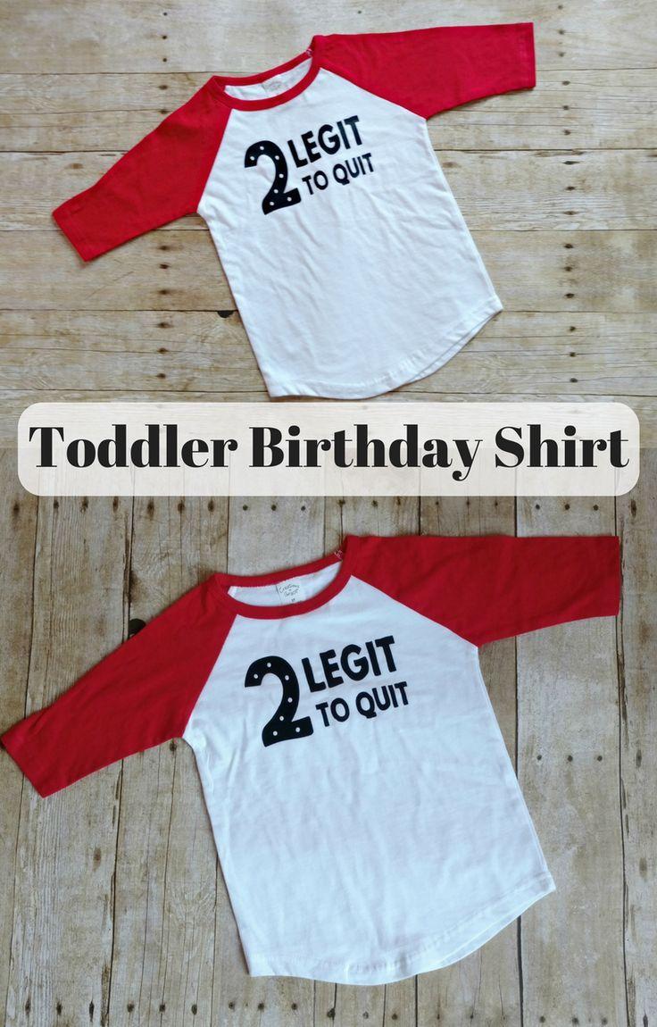 Toddler Birthday Shirt Boy Second Boys Tshirt Toddlers 2nd 2 Legit To Quit
