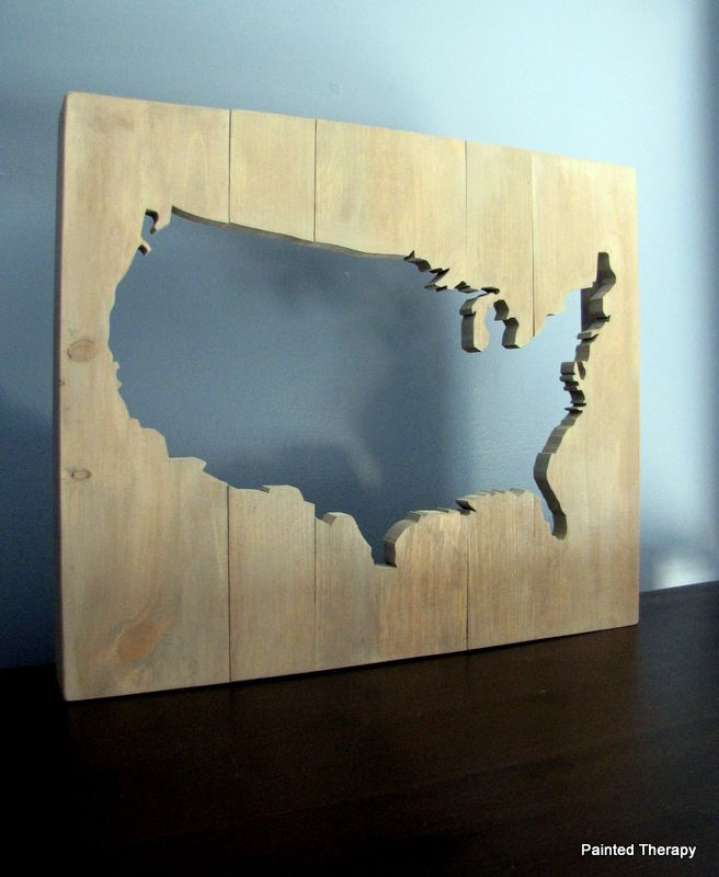 Best Map Projects Images On Pinterest DIY Map Crafts And - Us jigsaw map wood