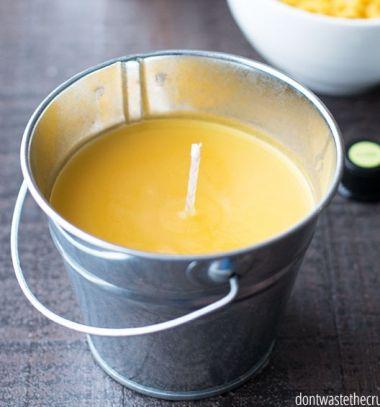 DIY Homemade mosquito repellent citronella candle // Szúnyogriasztó gyertya házilag - citronella gyertya (gyertyaöntés) // Mindy - craft tutorial collection