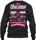 Discover Nursing Requirements Sweatshirt only on Teespring - Free Returns and 100% Guarantee - Nursing Requirement A Back Strong Enough To...