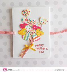 felicitación día de la madre Tarjetas para el día de la madre hechas a mano con…